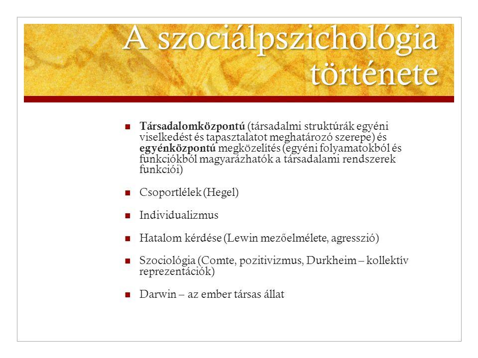 A szociálpszichológia története