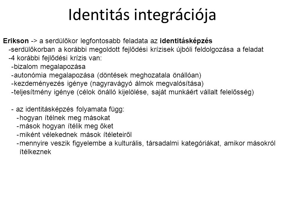 Identitás integrációja