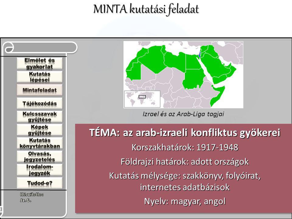 TÉMA: az arab-izraeli konfliktus gyökerei