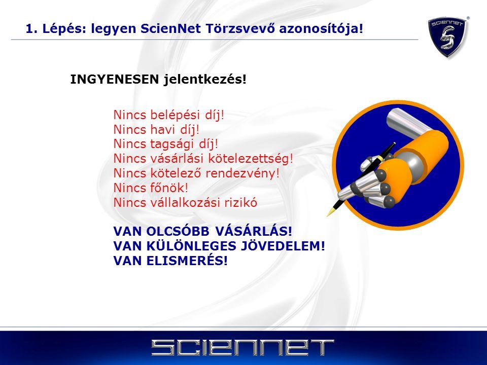 1. Lépés: legyen ScienNet Törzsvevő azonosítója!