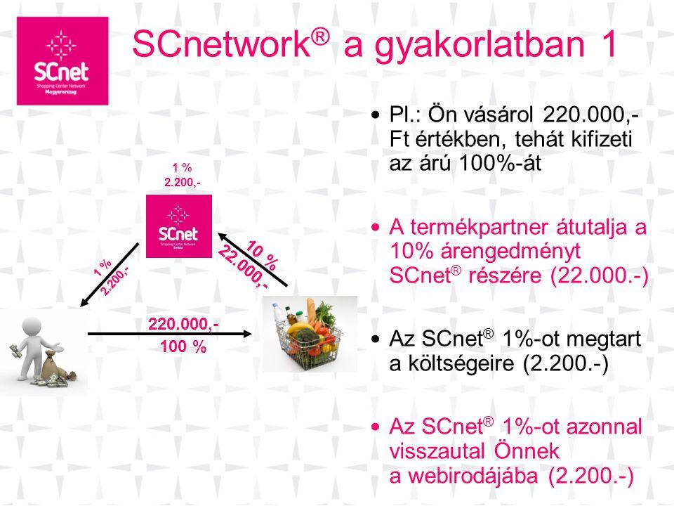 SCnetwork® a gyakorlatban 1