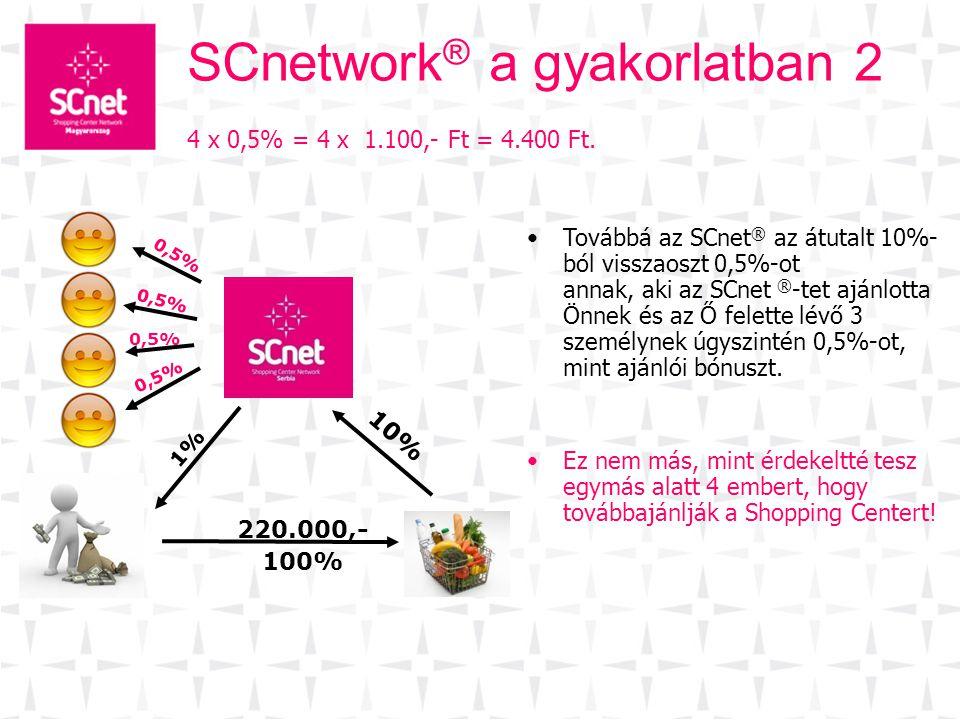 SCnetwork® a gyakorlatban 2