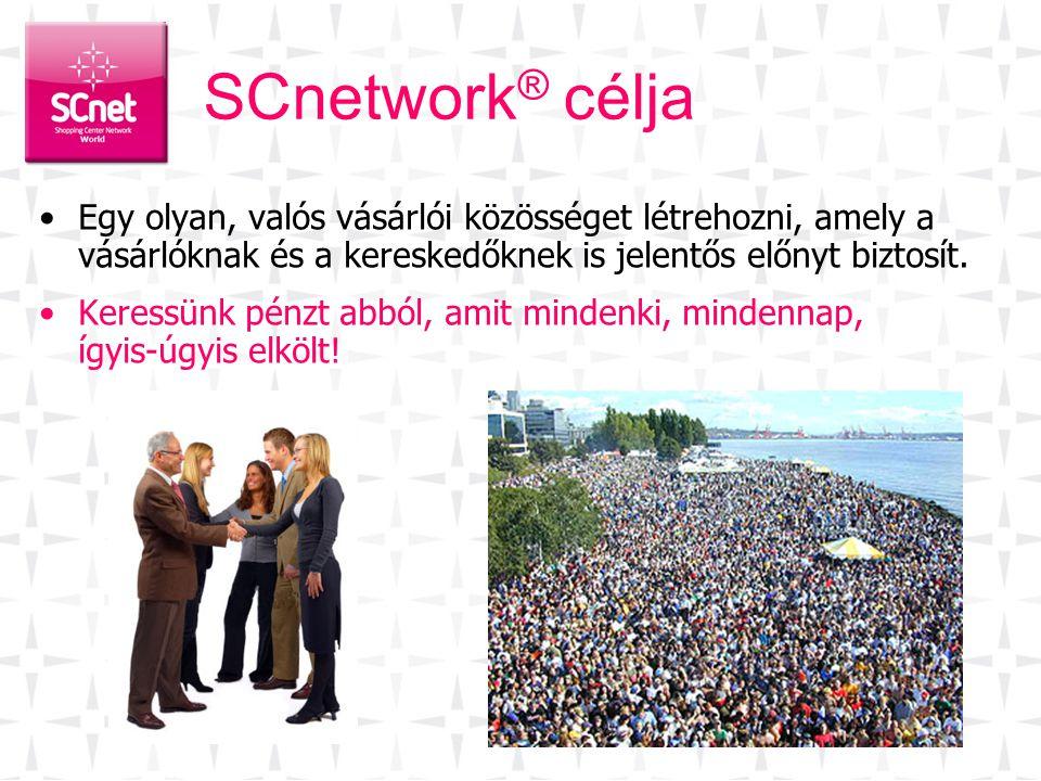 SCnetwork® célja Egy olyan, valós vásárlói közösséget létrehozni, amely a vásárlóknak és a kereskedőknek is jelentős előnyt biztosít.