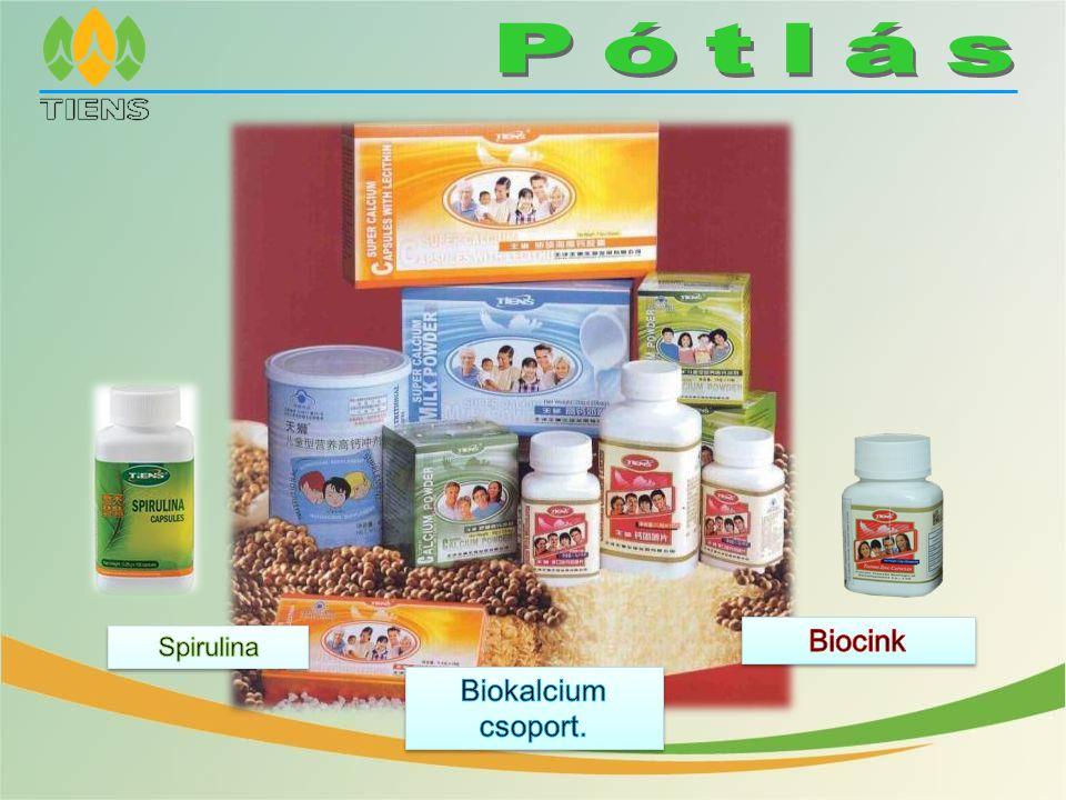 Pótlás Biocink Spirulina Biokalcium csoport.
