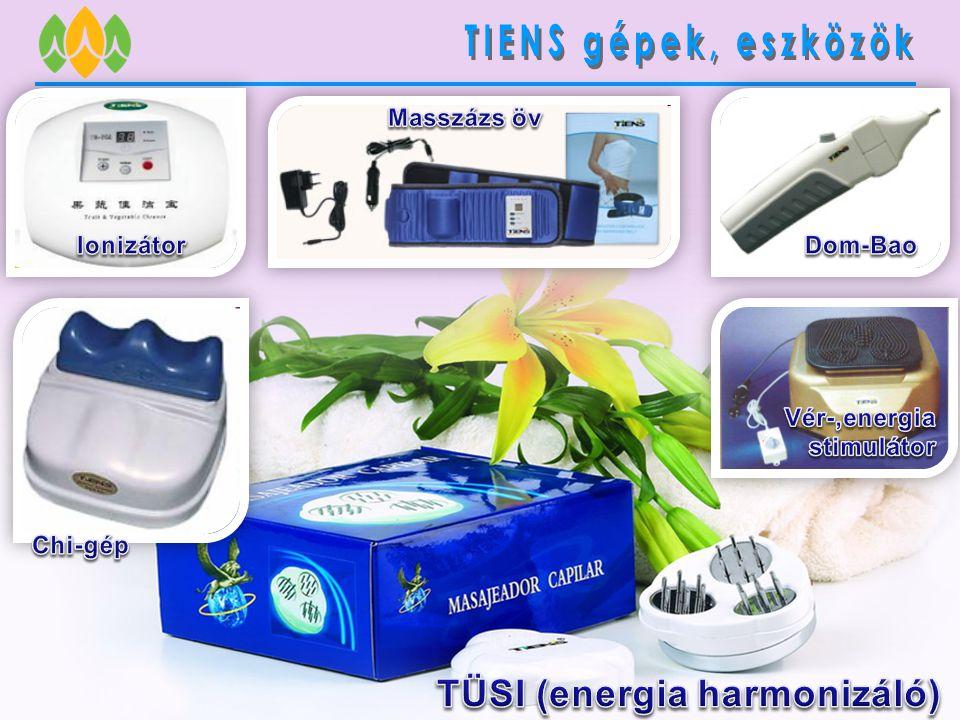 TIENS gépek, eszközök TÜSI (energia harmonizáló) Masszázs öv Ionizátor