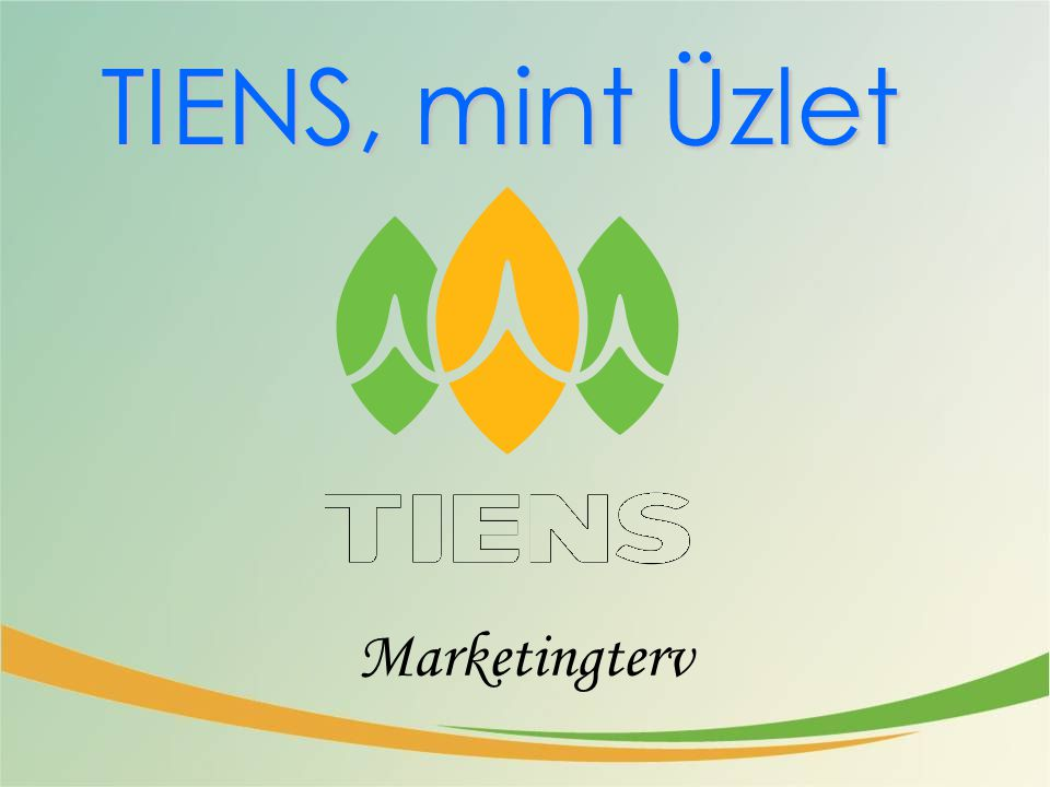 TIENS, mint Üzlet Marketingterv