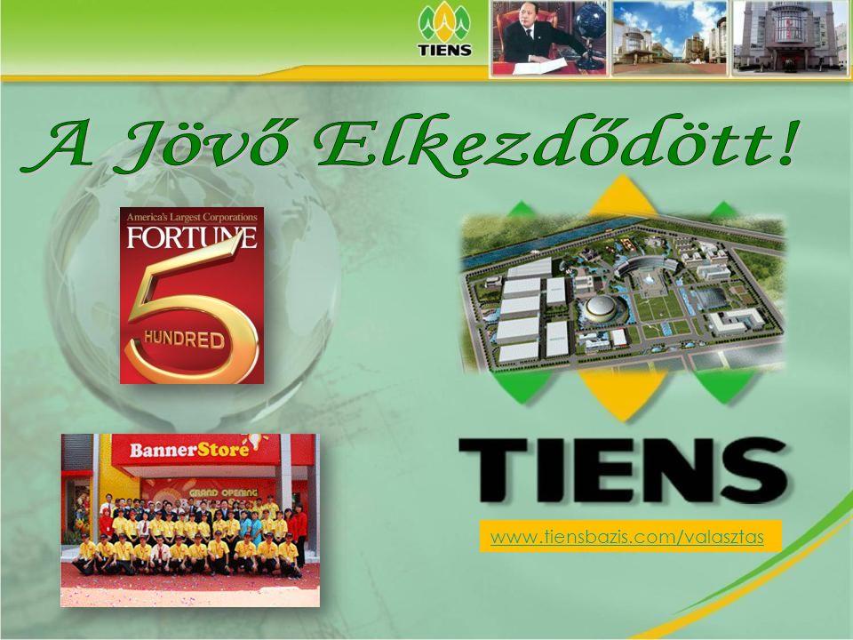 A Jövő Elkezdődött! www.tiensbazis.com/valasztas Tiens do Brasil©