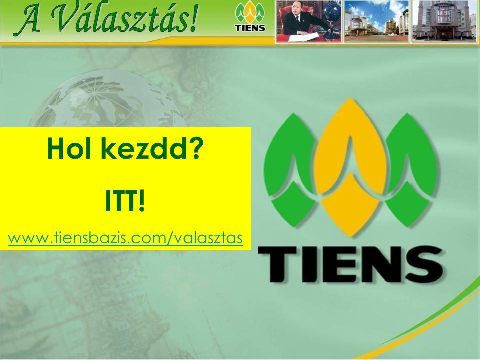 Hol kezdd ITT! A Választás! www.tiensbazis.com/valasztas