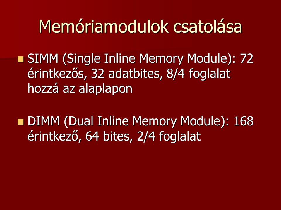 Memóriamodulok csatolása