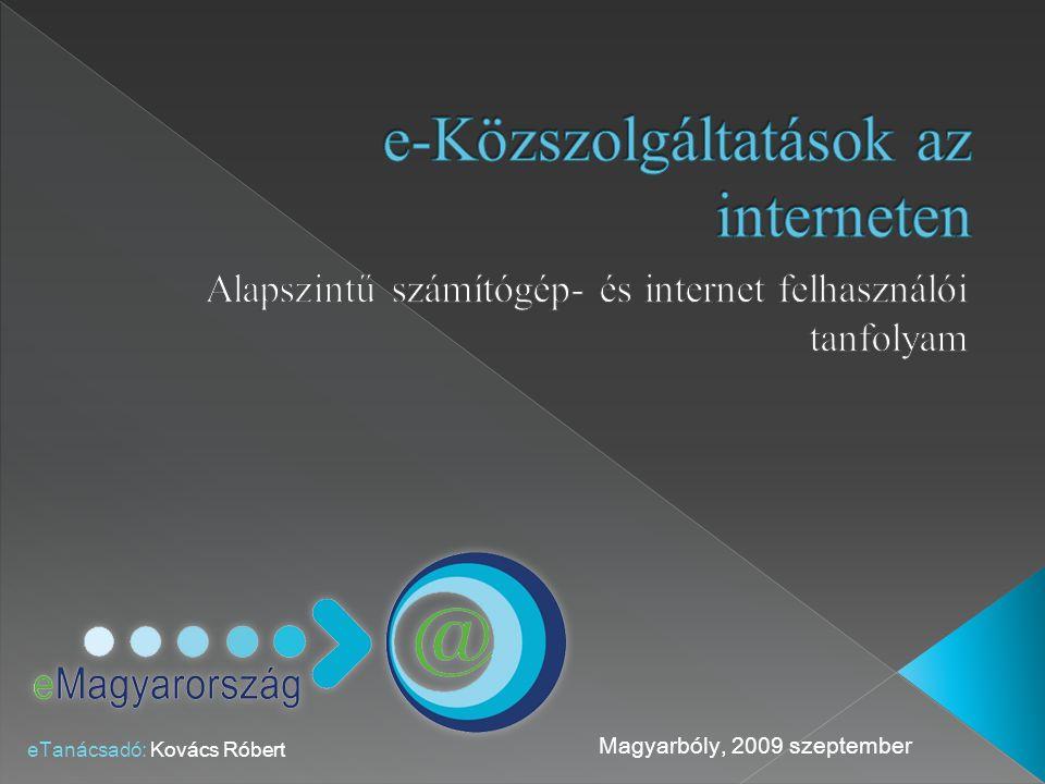 e-Közszolgáltatások az interneten