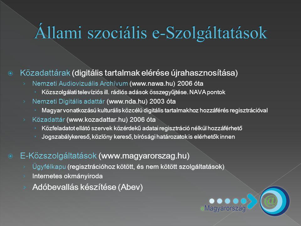 Állami szociális e-Szolgáltatások