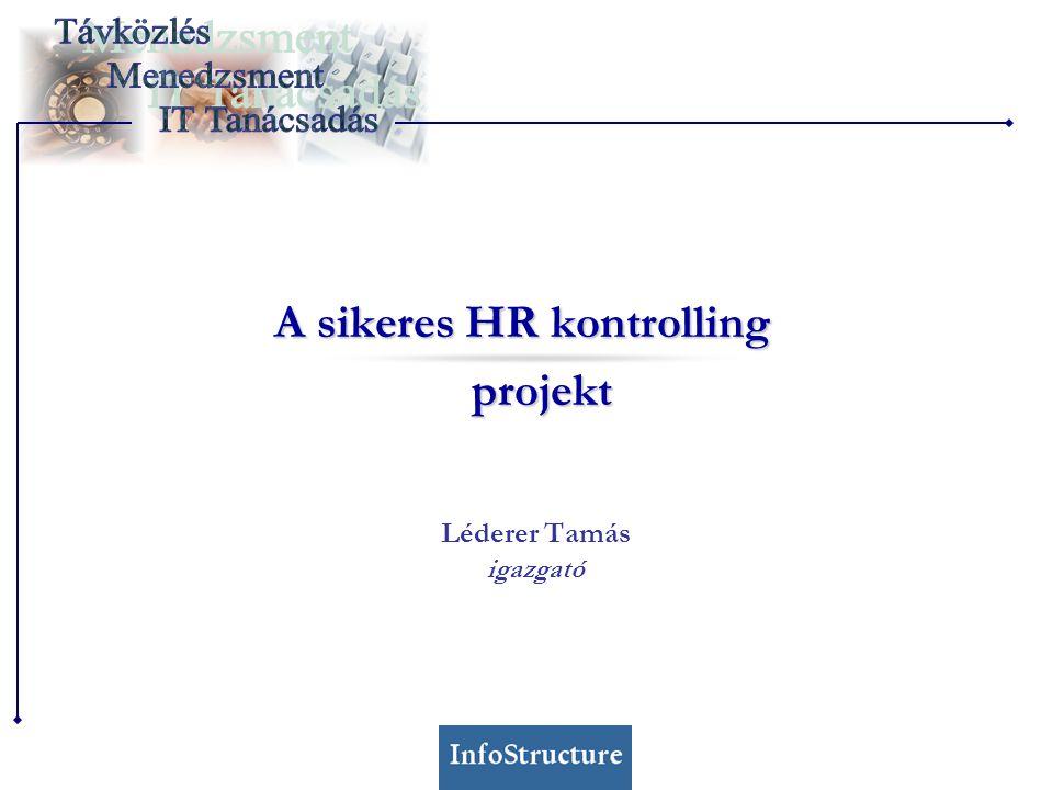 A sikeres HR kontrolling projekt