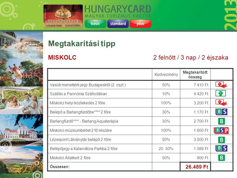 Megtakarítási tipp MISKOLC 2 felnőtt / 3 nap / 2 éjszaka 26.489 Ft