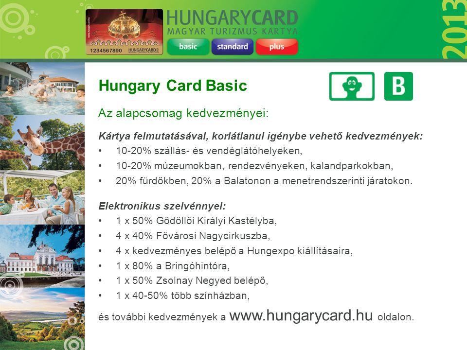 Hungary Card Basic Az alapcsomag kedvezményei: