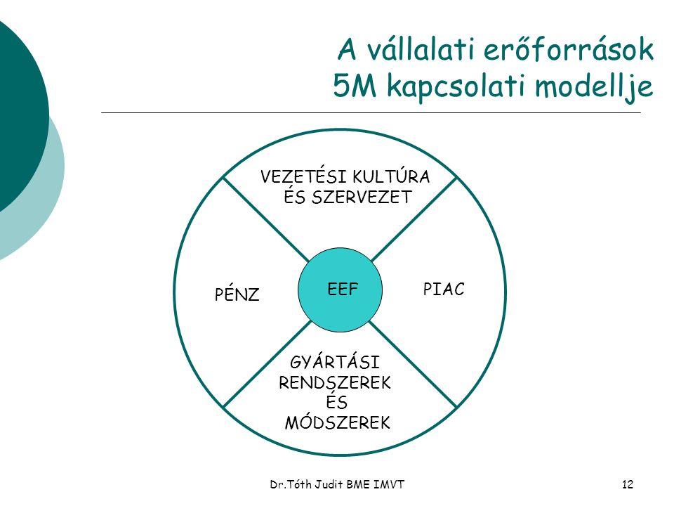 A vállalati erőforrások 5M kapcsolati modellje