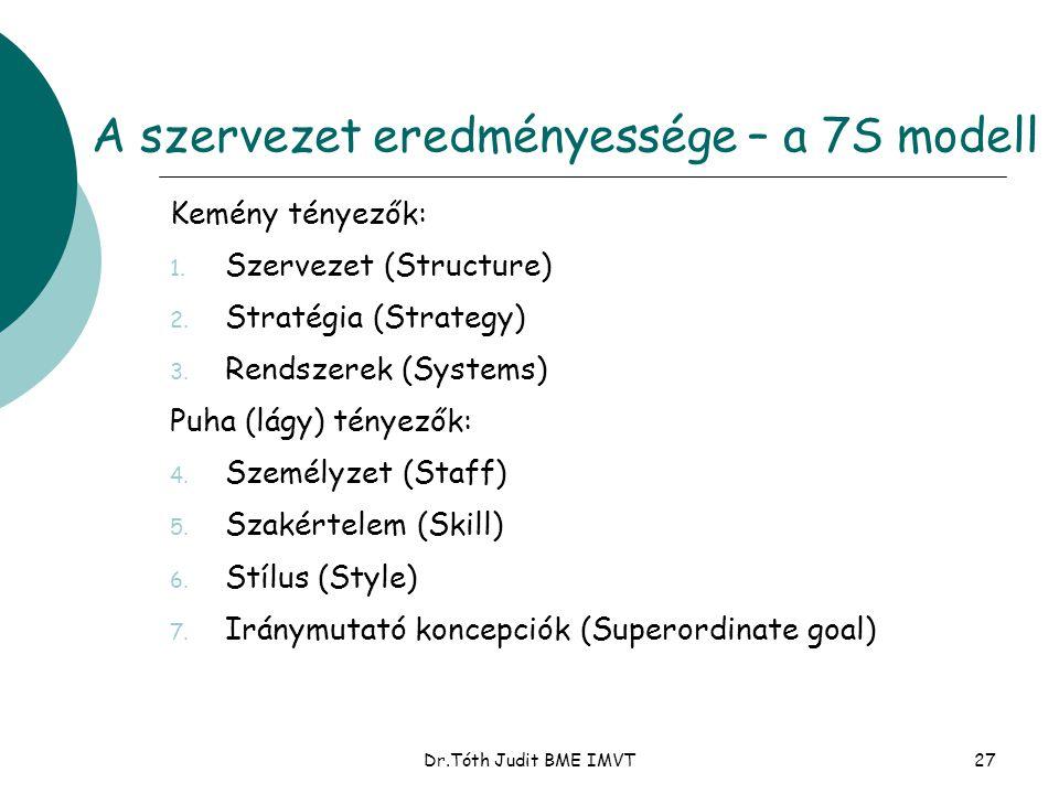A szervezet eredményessége – a 7S modell