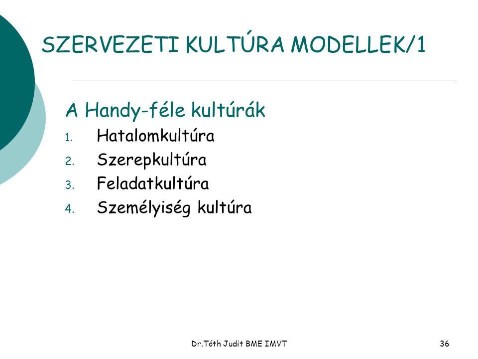 SZERVEZETI KULTÚRA MODELLEK/1