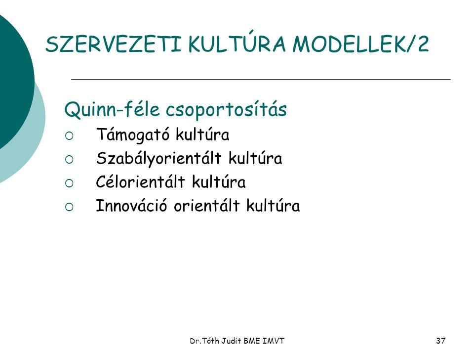 SZERVEZETI KULTÚRA MODELLEK/2