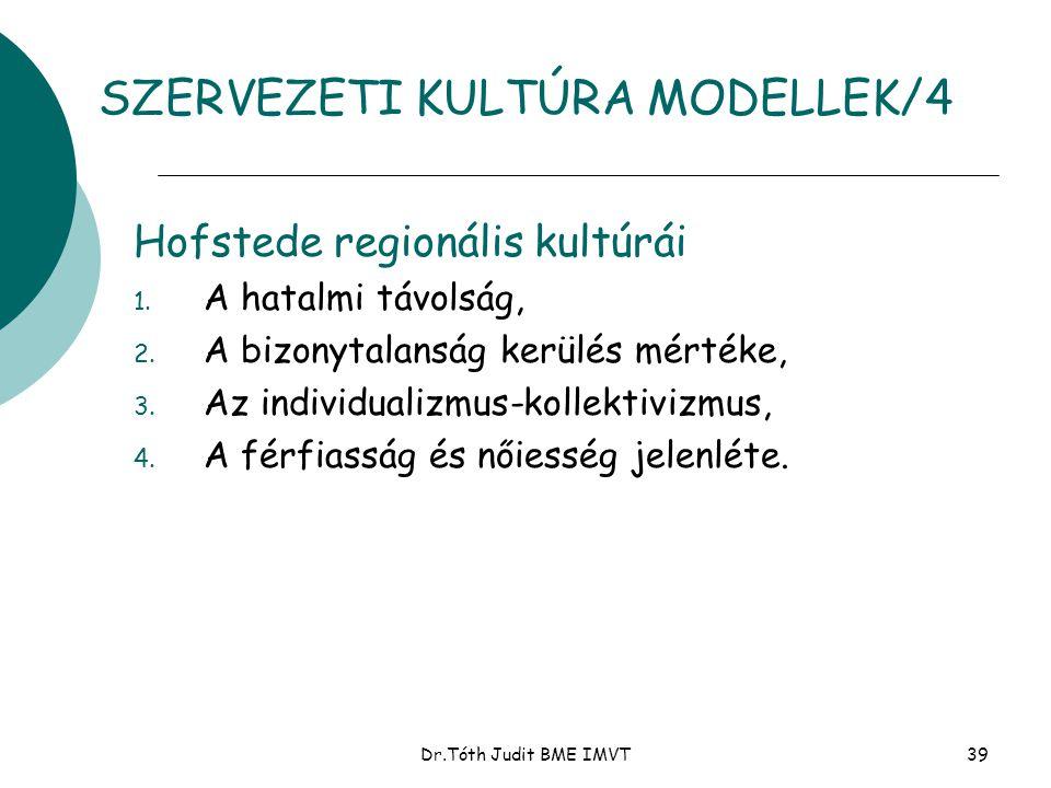 SZERVEZETI KULTÚRA MODELLEK/4