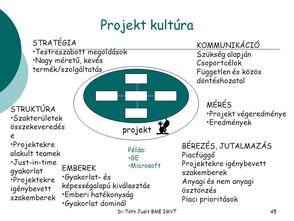 Projekt kultúra projekt STRATÉGIA Testreszabott megoldások