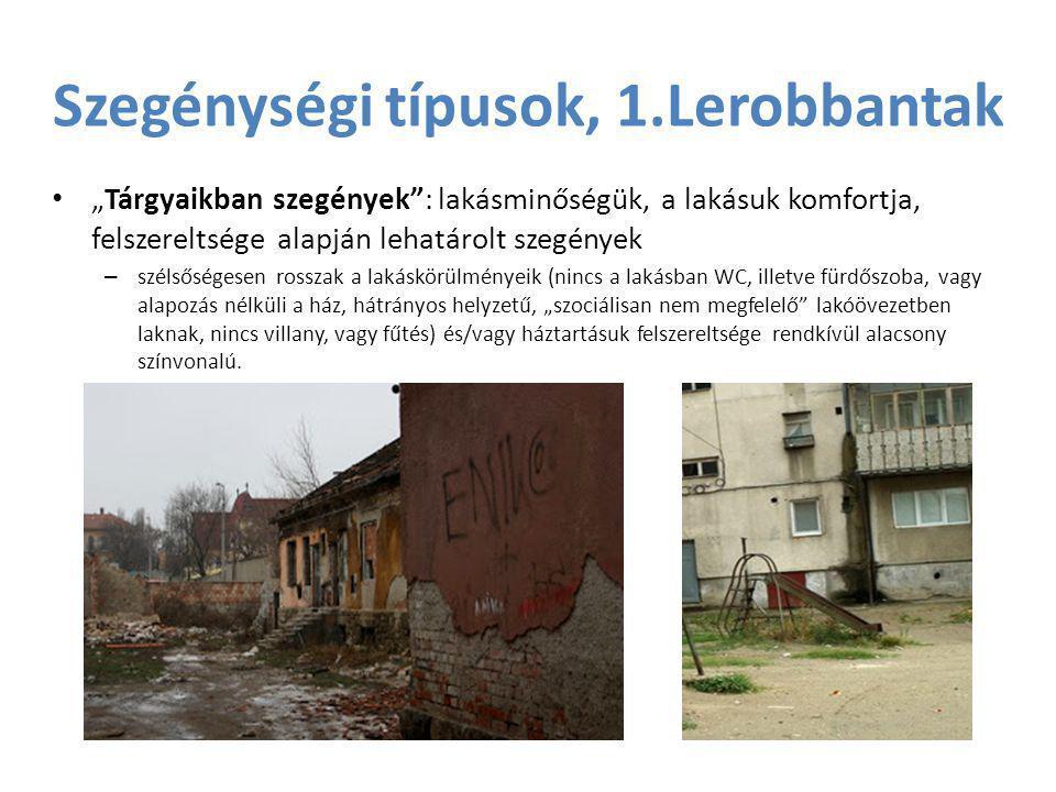 Szegénységi típusok, 1.Lerobbantak