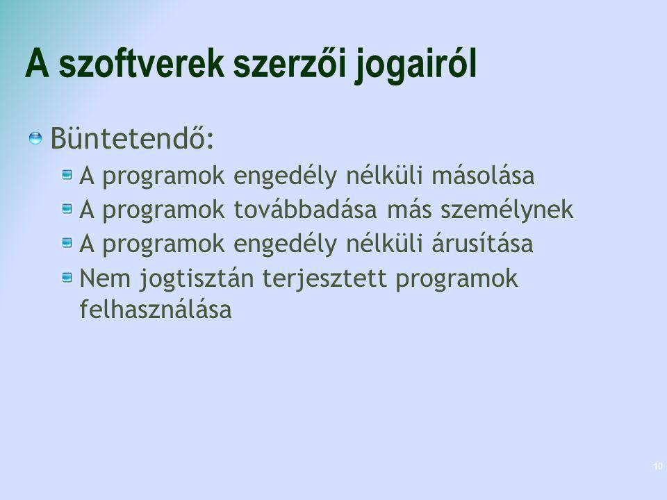A szoftverek szerzői jogairól