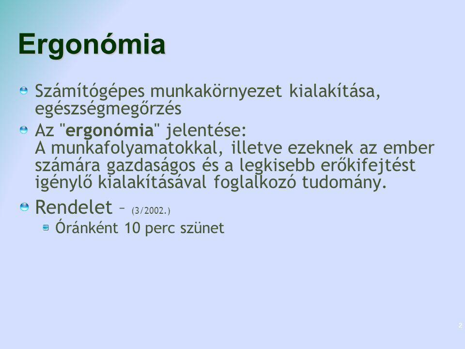Ergonómia Rendelet – (3/2002.)