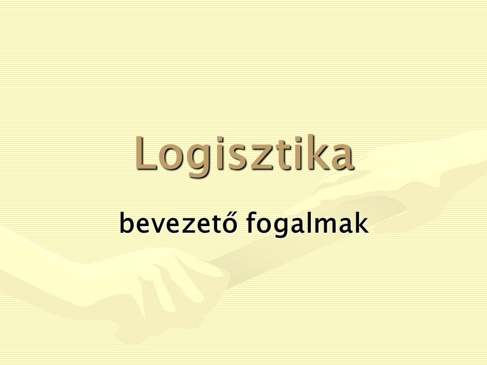 Logisztika bevezető fogalmak