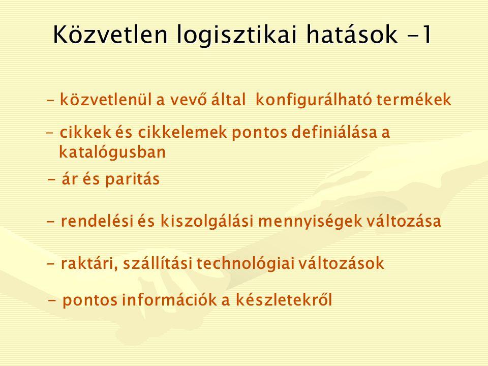 Közvetlen logisztikai hatások -1