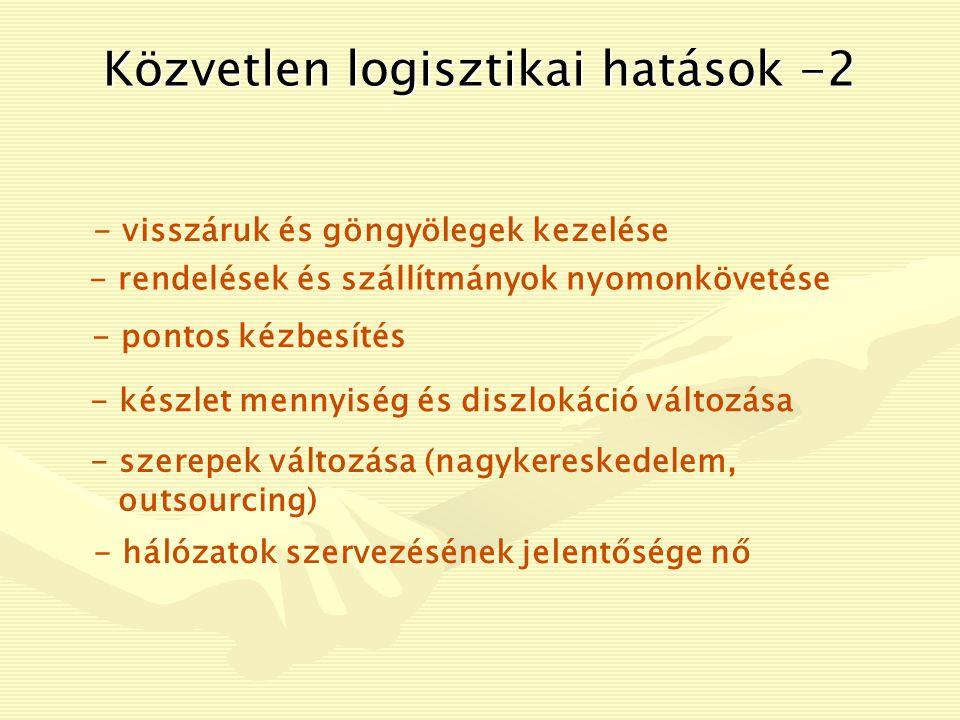 Közvetlen logisztikai hatások -2