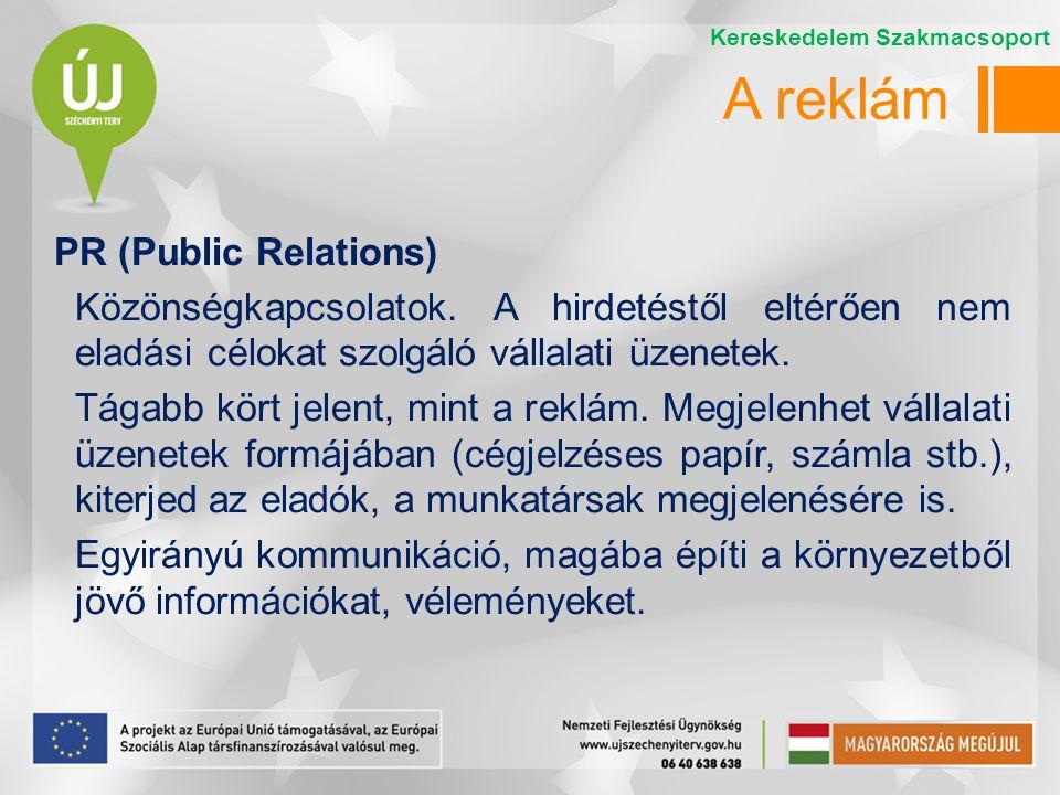 A reklám PR (Public Relations)