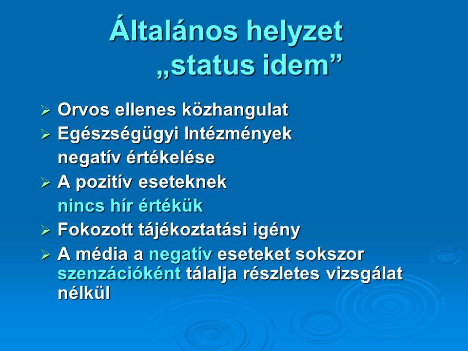 """Általános helyzet """"status idem"""