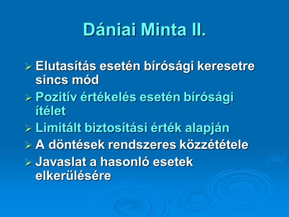 Dániai Minta II. Elutasítás esetén bírósági keresetre sincs mód