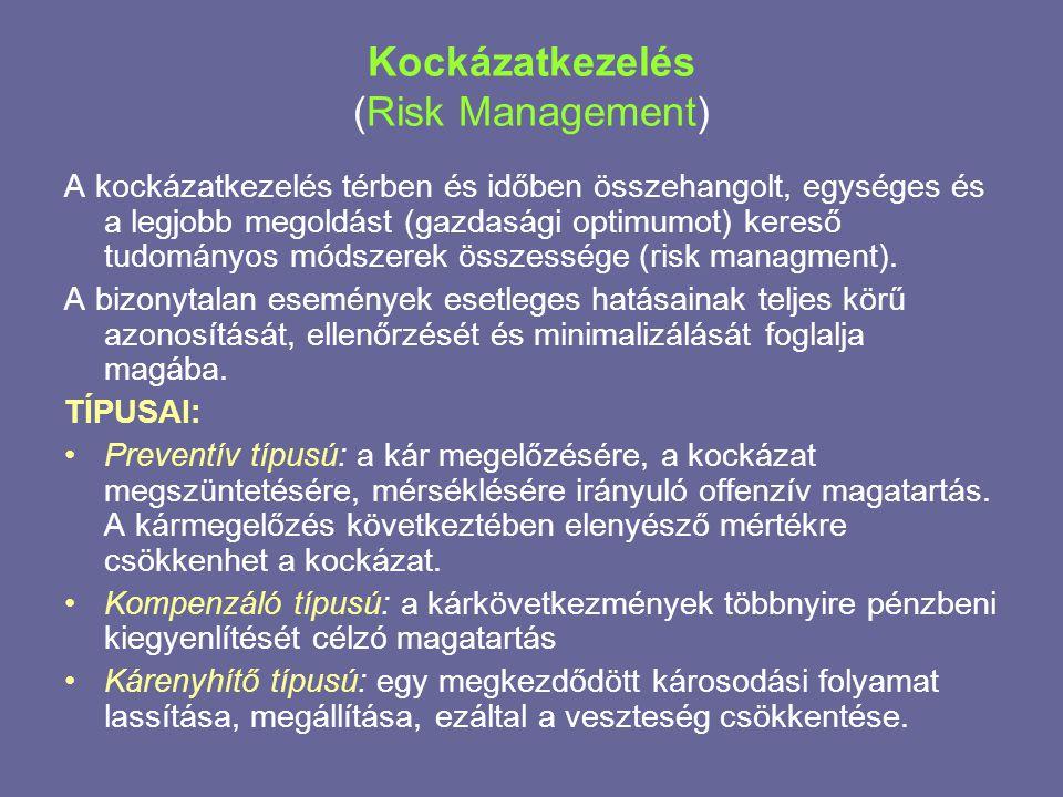 Kockázatkezelés (Risk Management)