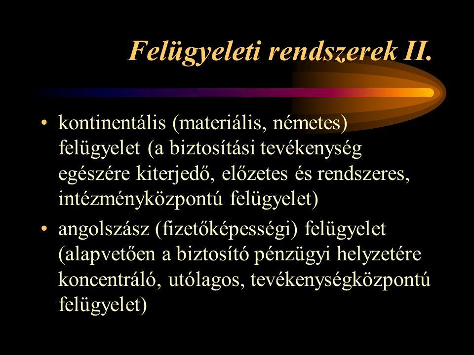 Felügyeleti rendszerek II.