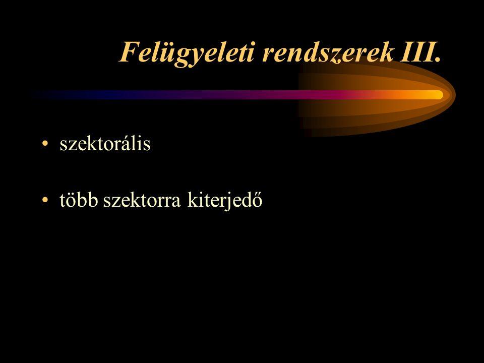 Felügyeleti rendszerek III.