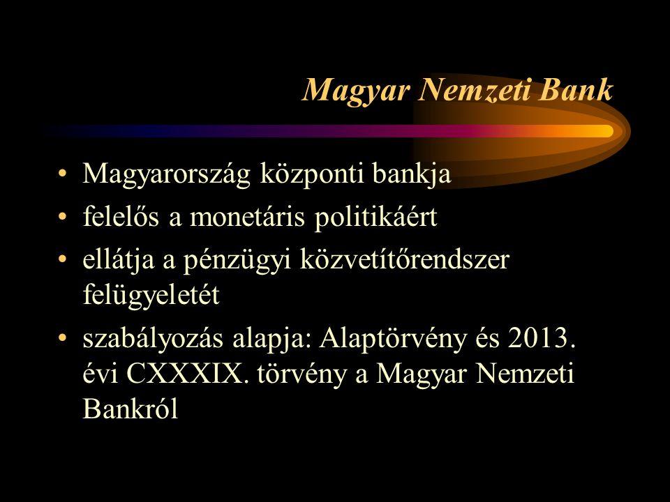 Magyar Nemzeti Bank Magyarország központi bankja