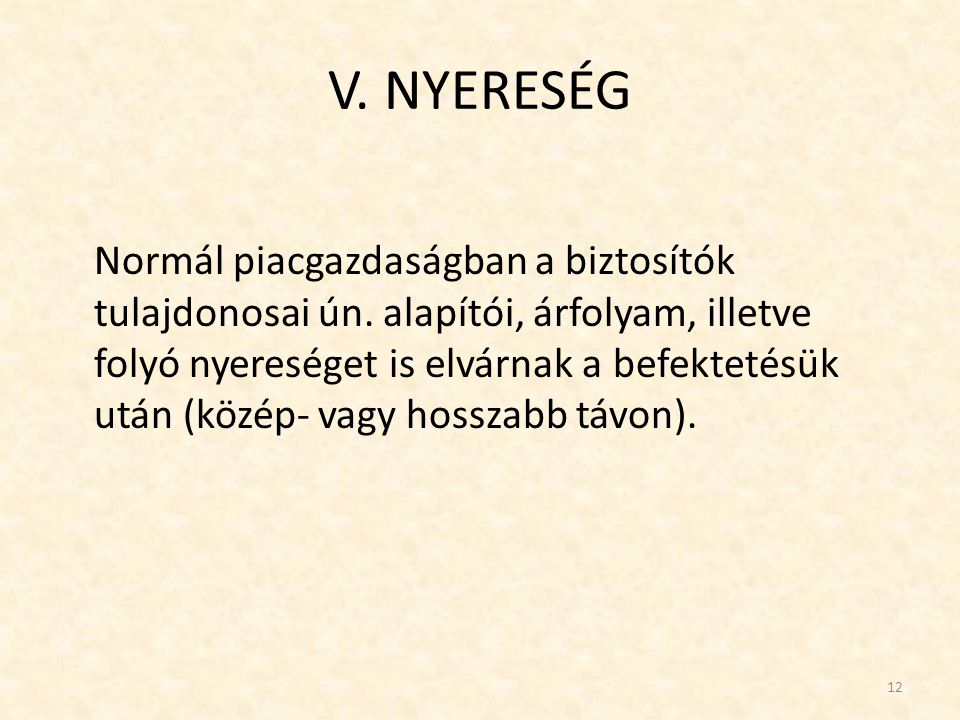 V. NYERESÉG