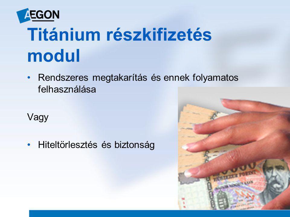 Titánium részkifizetés modul