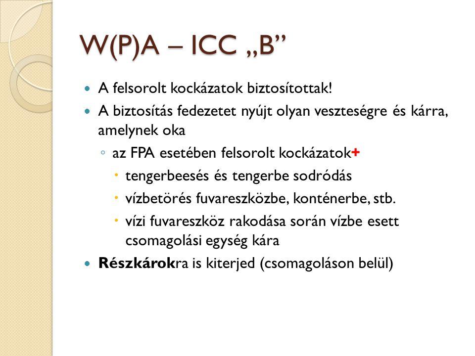 """W(P)A – ICC """"B A felsorolt kockázatok biztosítottak!"""