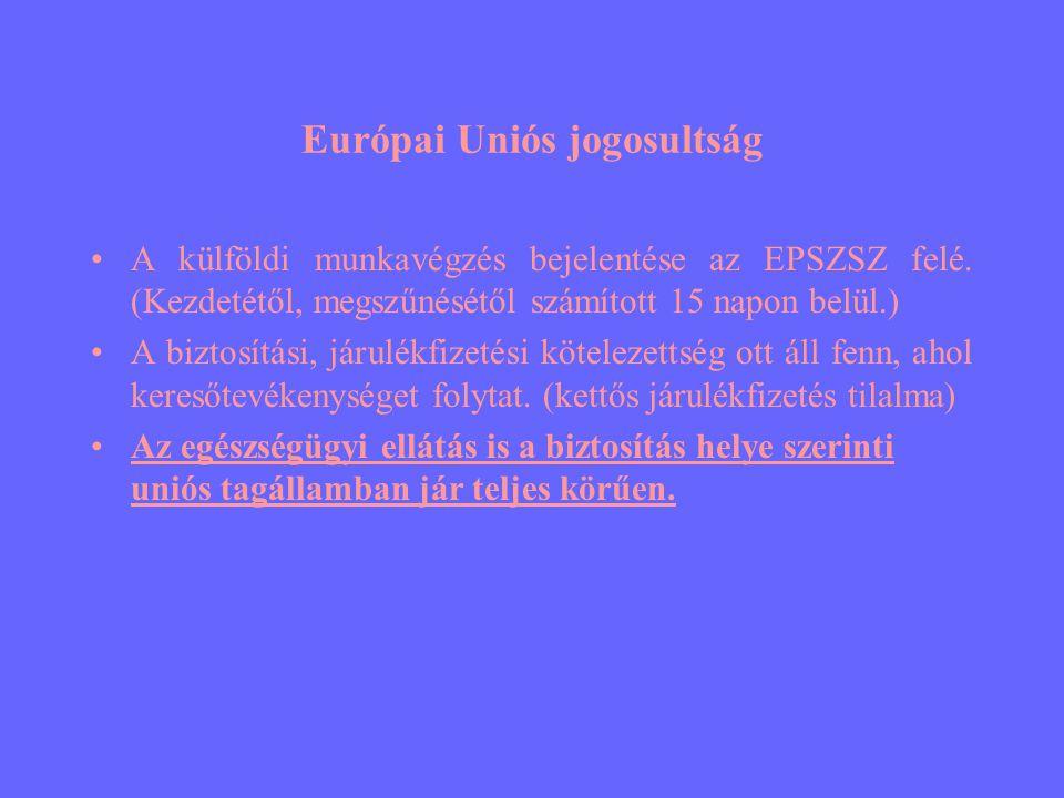 Európai Uniós jogosultság