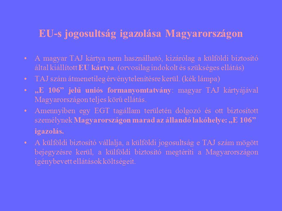 EU-s jogosultság igazolása Magyarországon
