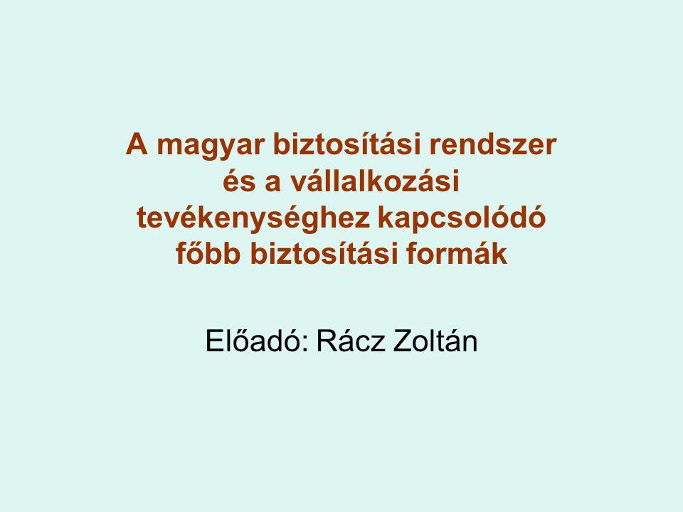 A magyar biztosítási rendszer és a vállalkozási tevékenységhez kapcsolódó főbb biztosítási formák