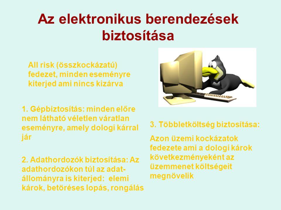Az elektronikus berendezések biztosítása