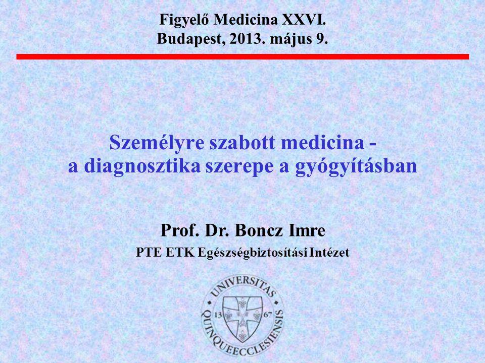 Személyre szabott medicina - a diagnosztika szerepe a gyógyításban