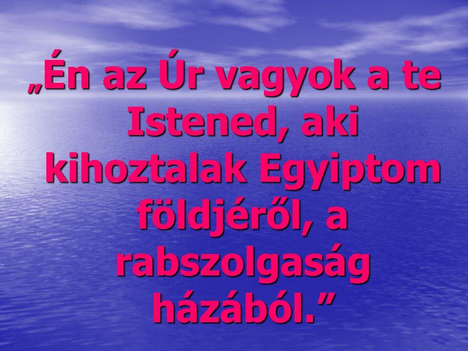 """""""Én az Úr vagyok a te Istened, aki kihoztalak Egyiptom földjéről, a rabszolgaság házából."""