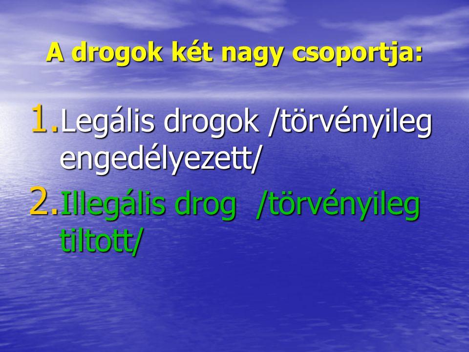 A drogok két nagy csoportja: