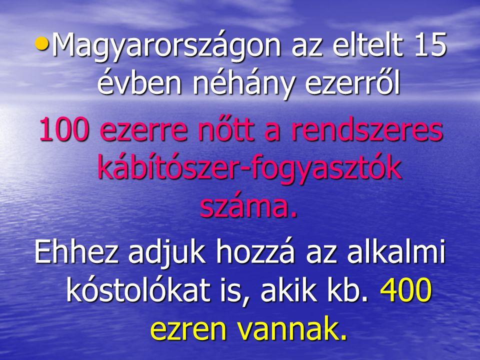 Magyarországon az eltelt 15 évben néhány ezerről