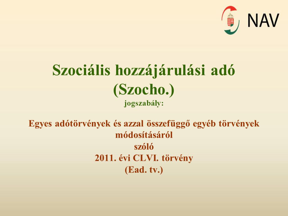 Szociális hozzájárulási adó (Szocho