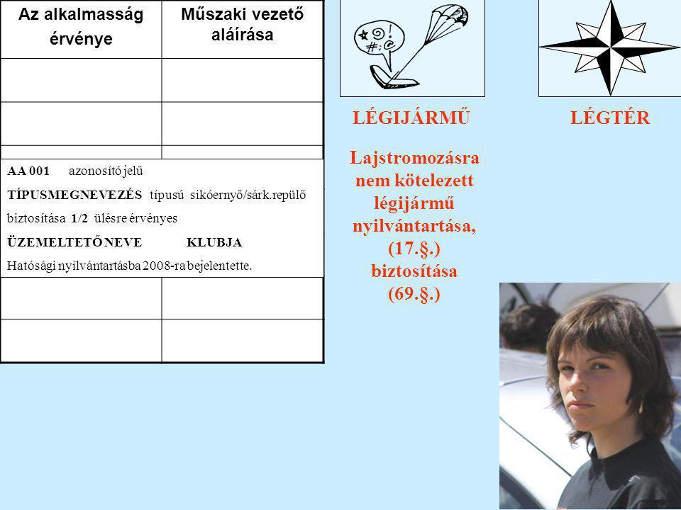 TV. a légiközlekedésről Lajstromozásra nem kötelezett légijármű